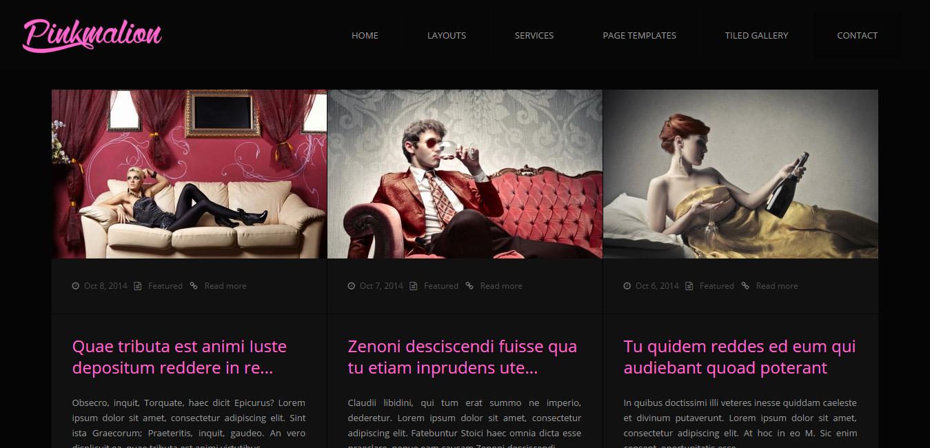 Pinkmalion - Pink WordPress Themes
