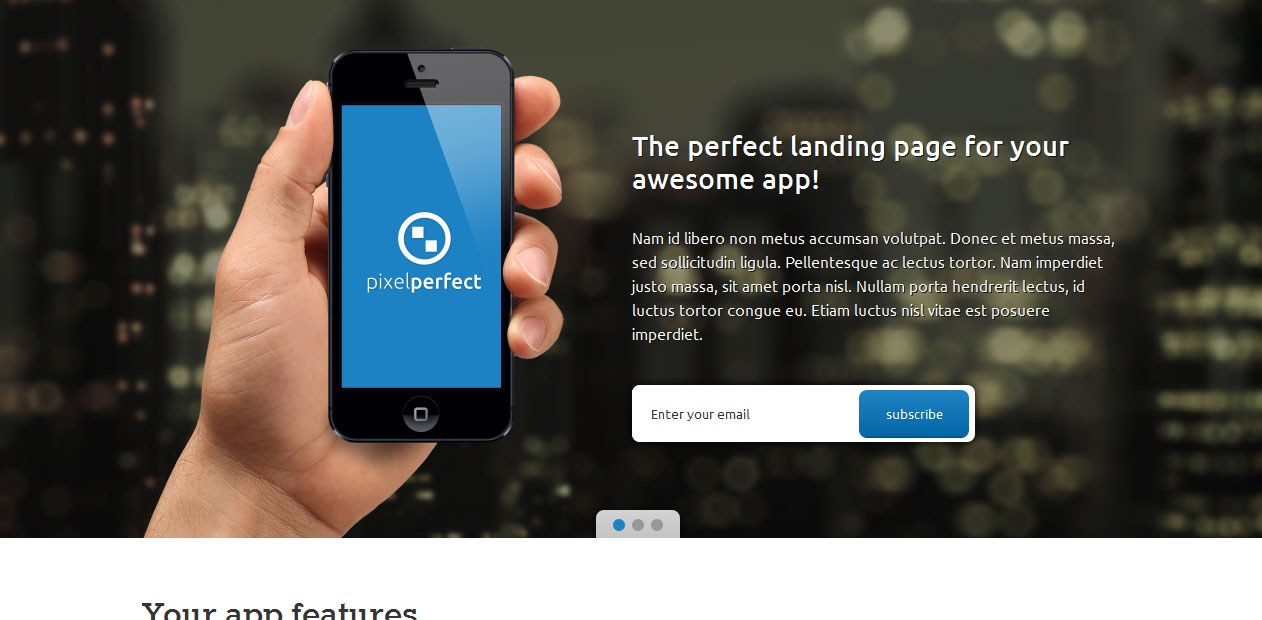PixelPerfect - software company WordPress themes