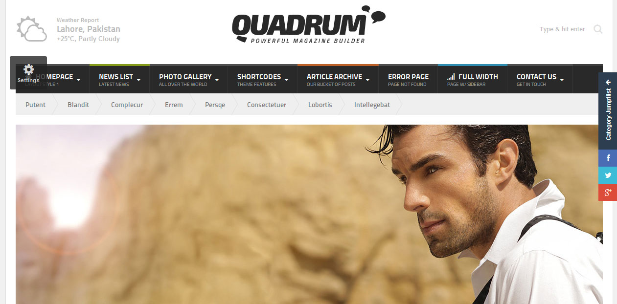 Quadrum - SEO Friendly WordPress Themes