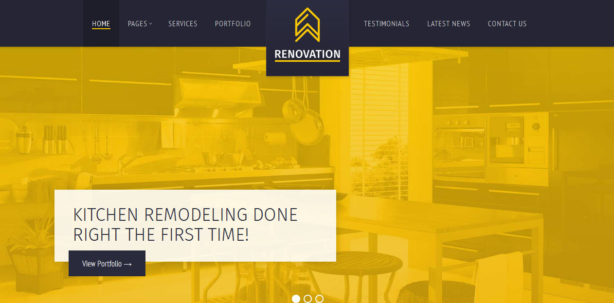 Renovation - Industrial WordPress Themes