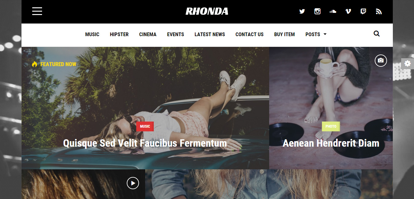 Rhonda - Responsive News WordPress Themes