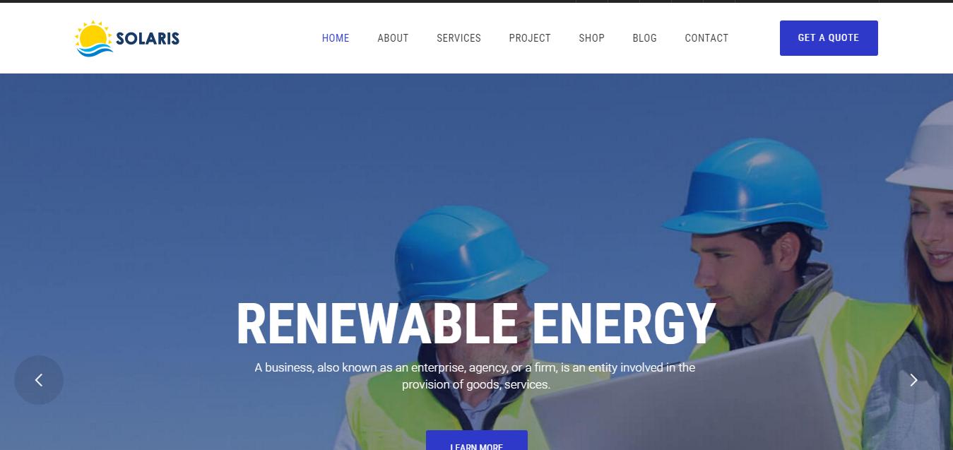 Ri Solaris - Solar Energy WordPress Theme