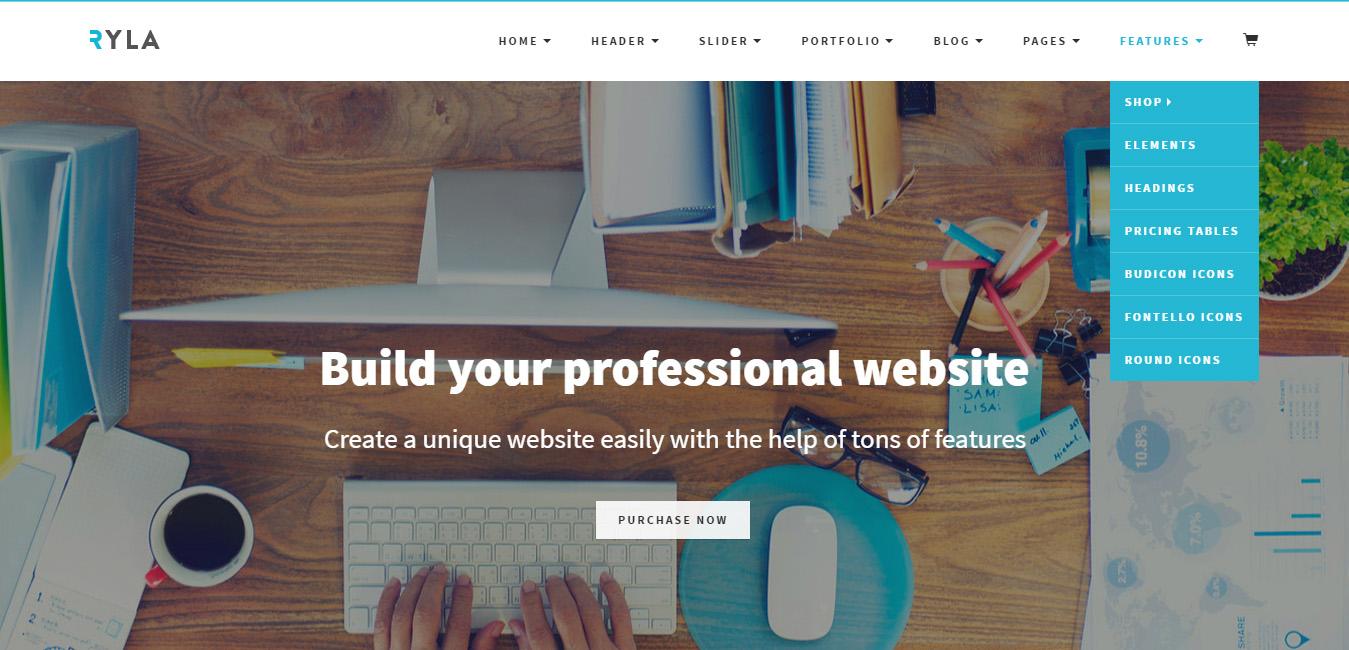Ryla - Multipurpose Multi Page WordPress Theme