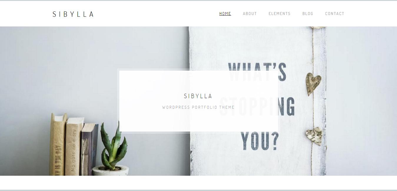 Sibylla - WordPress Portfolio Theme