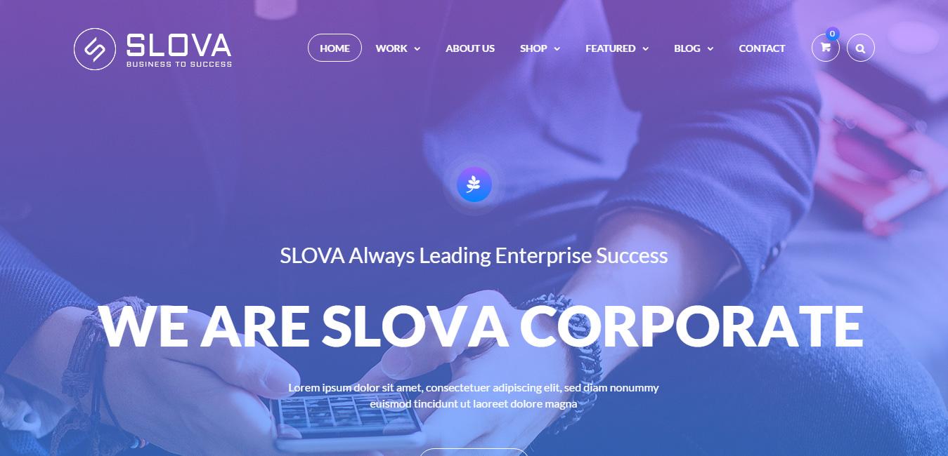 Slova - Business Responsive WordPress Theme