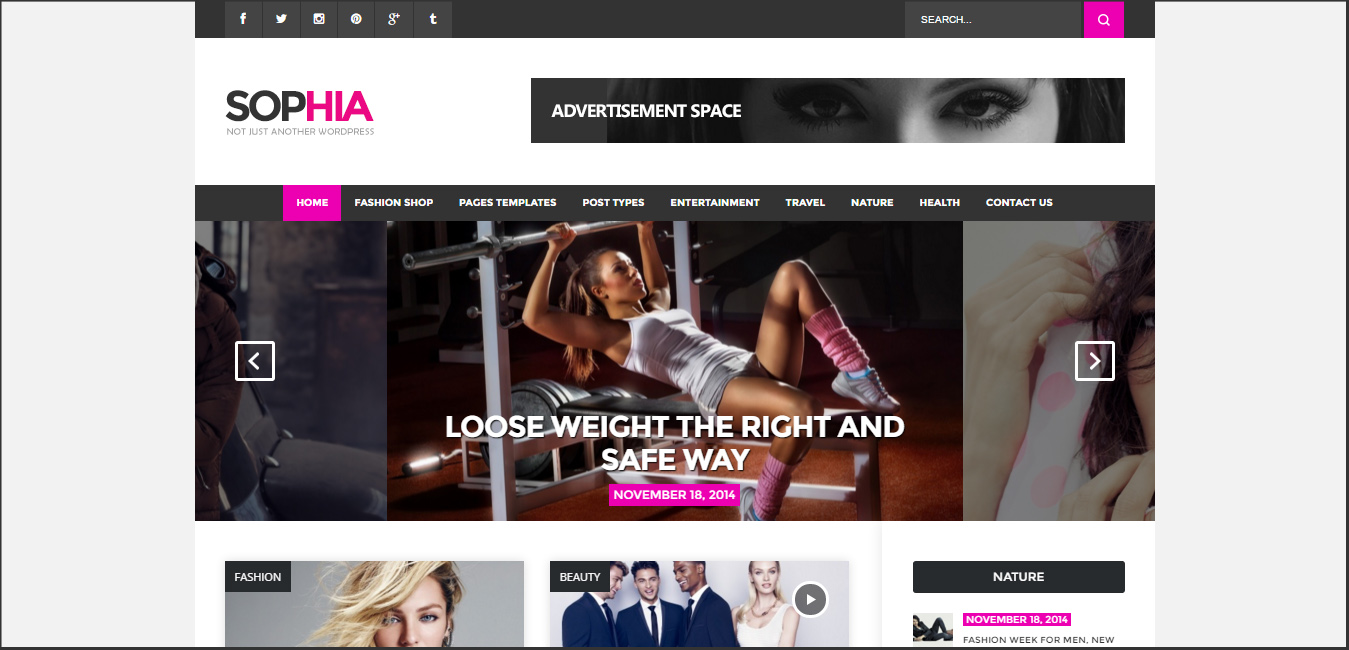Sofia - Elegant Magazine WordPress Theme