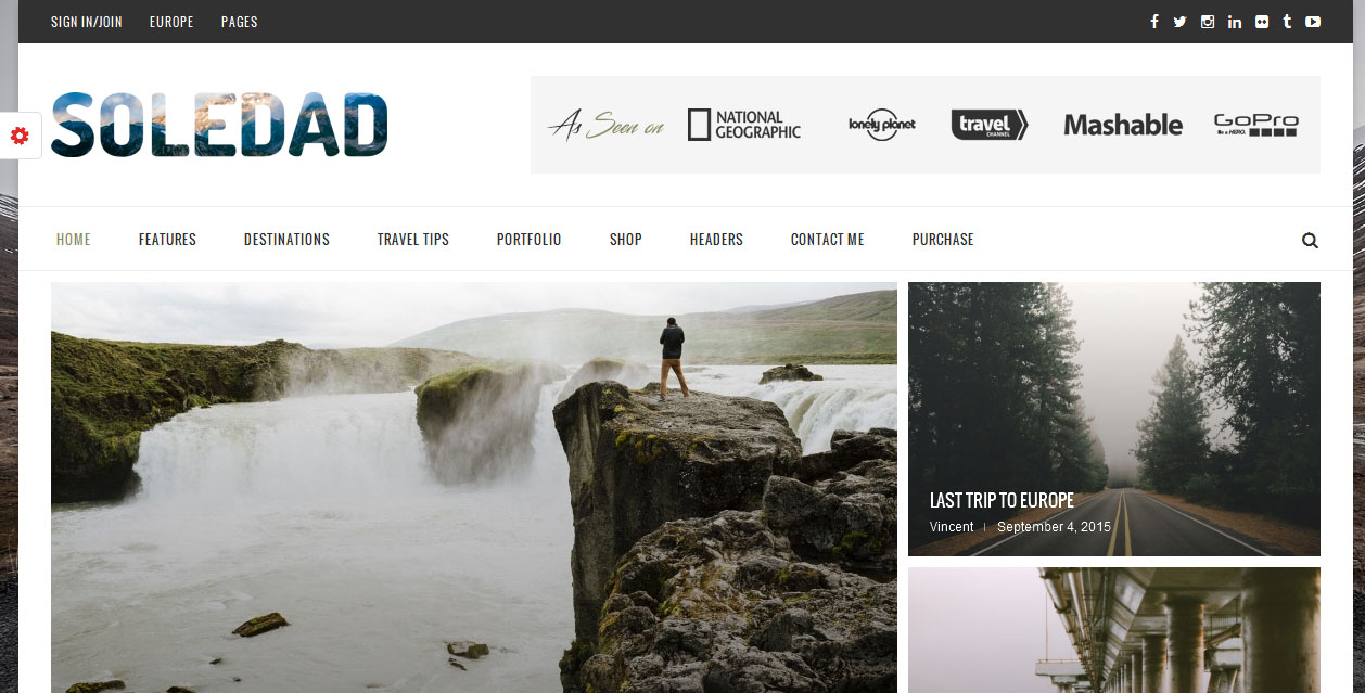 Soledad simple and easy to use wordpress theme