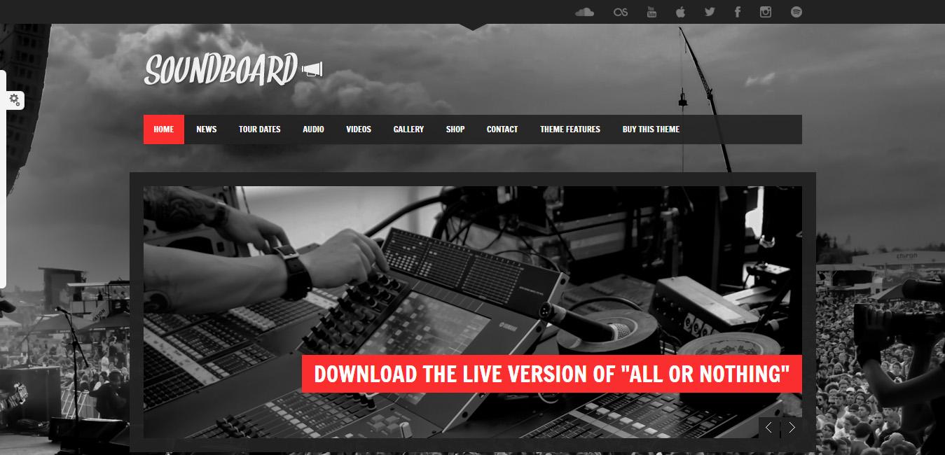 Soundboard - Responsive Music WordPress Theme