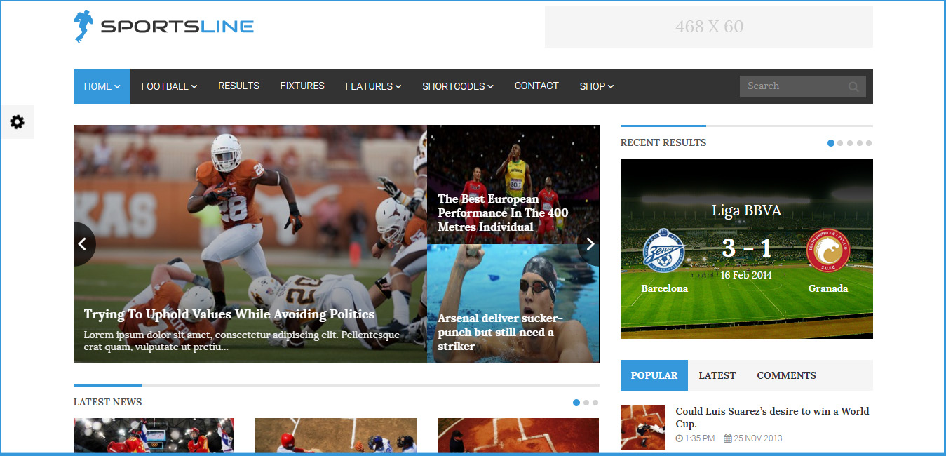 Sportsline - sports wordpress themes
