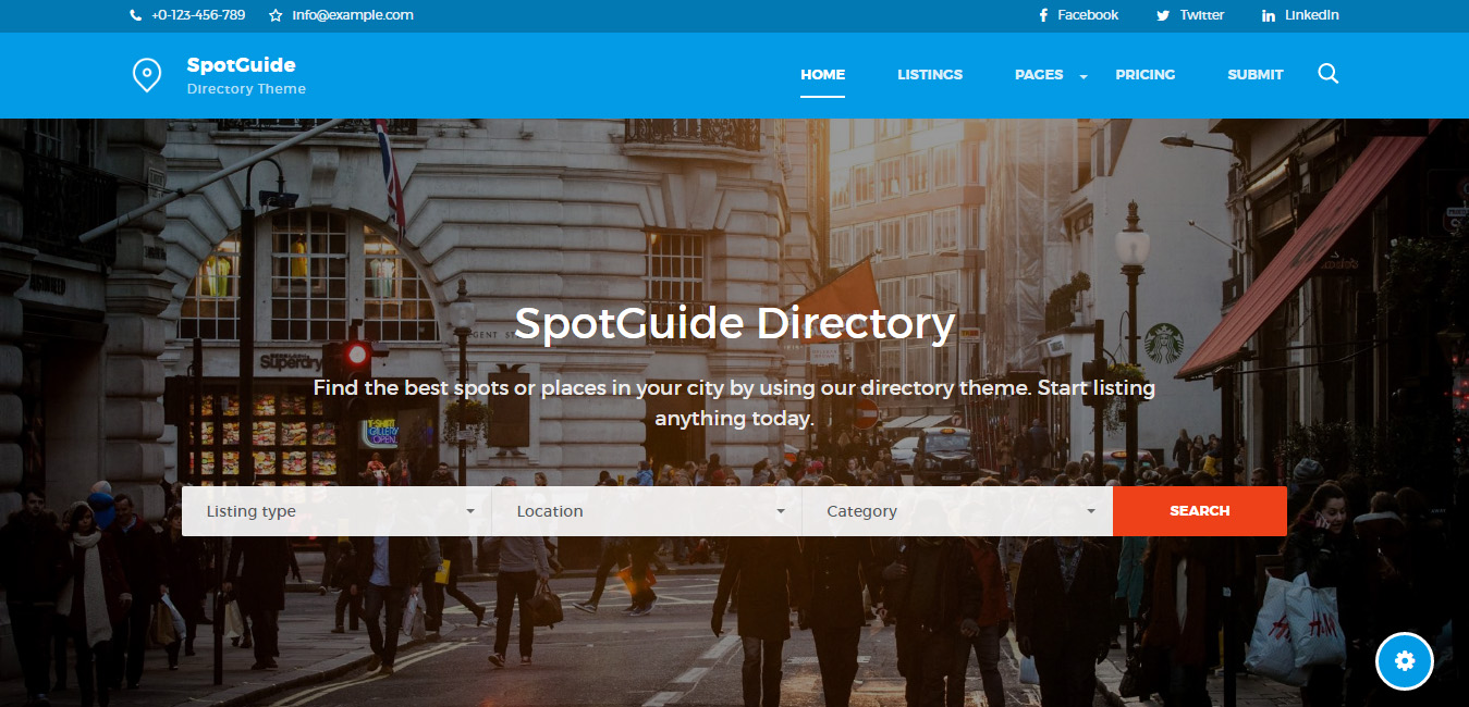 SpotGuide - Directory WordPress Theme