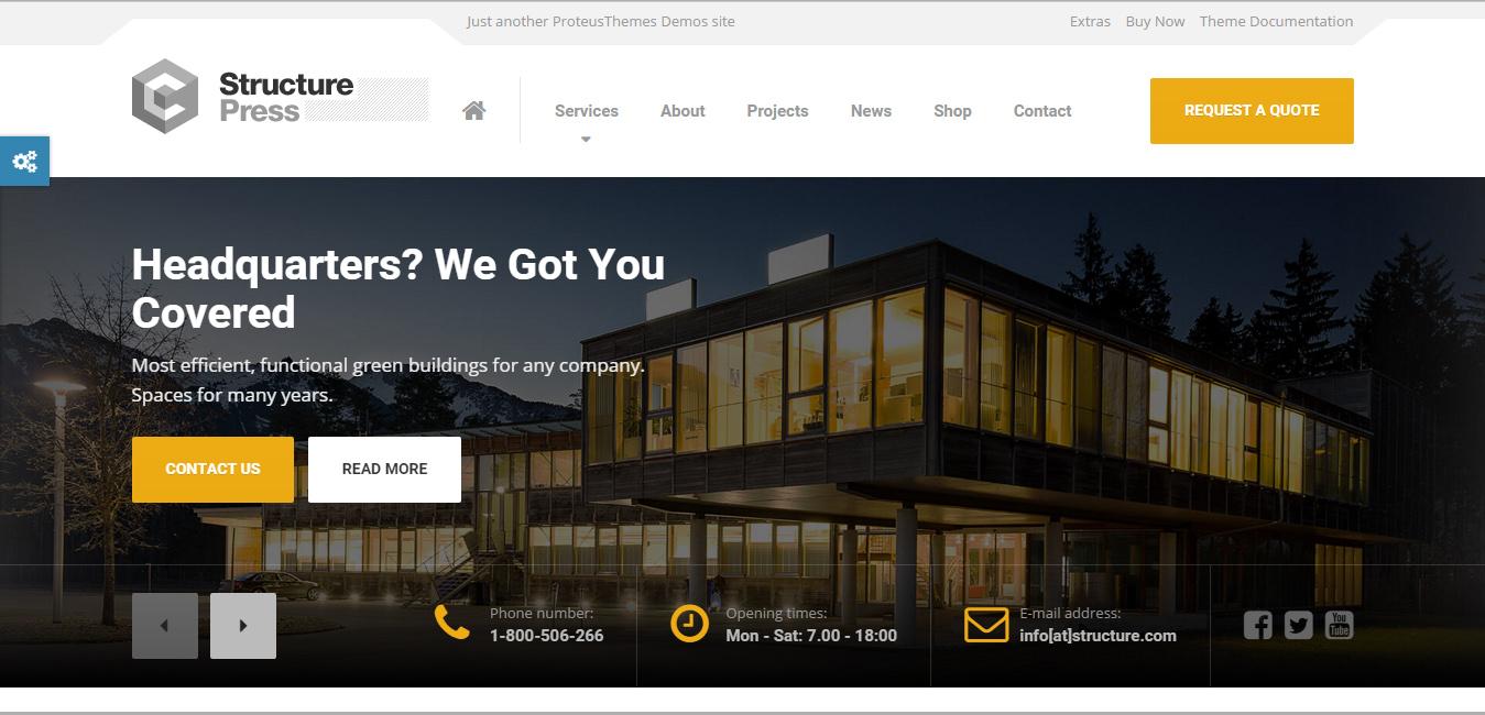 StructurePress - construction company WordPress themes