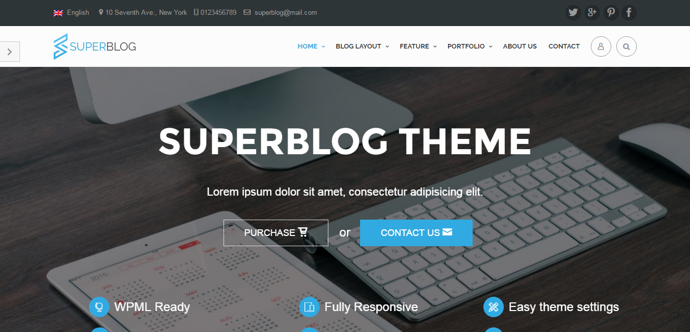 Super Blog - Responsive Timeline WordPress Theme