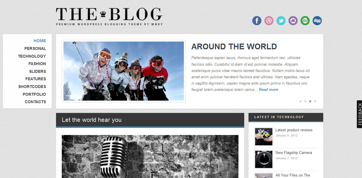 The Blog - blogging WordPress themes
