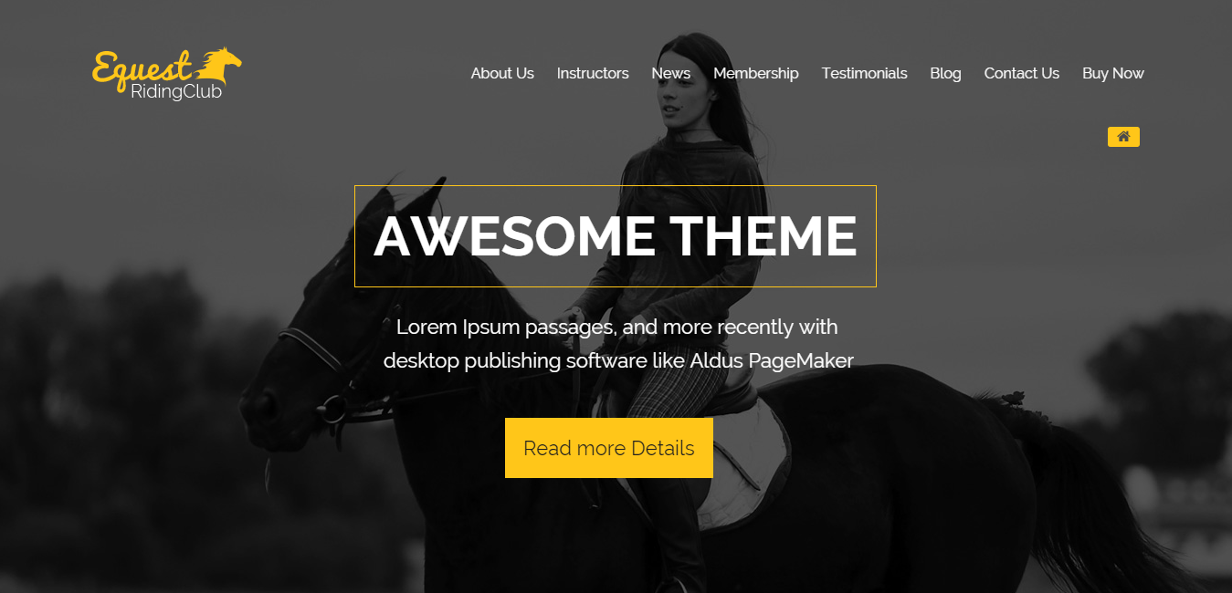 The Equestrian - Multipurpose Responsive WordPress Theme