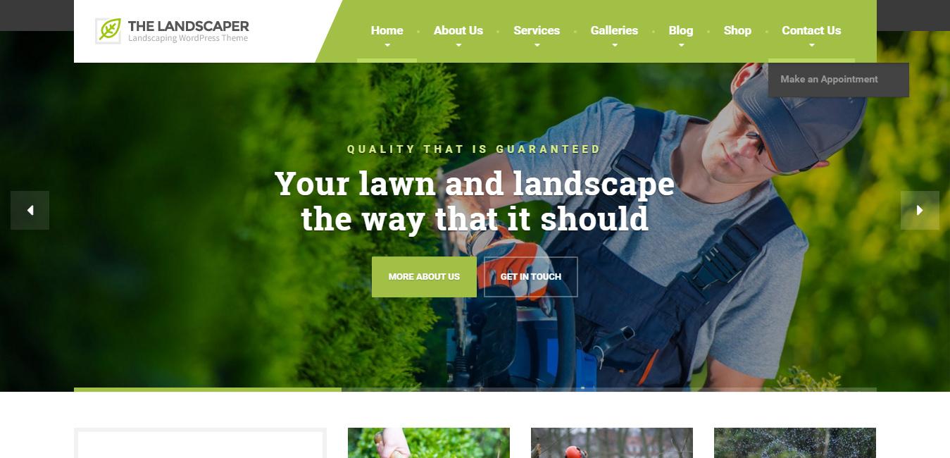 The Landscaper - Garden WordPress Themes