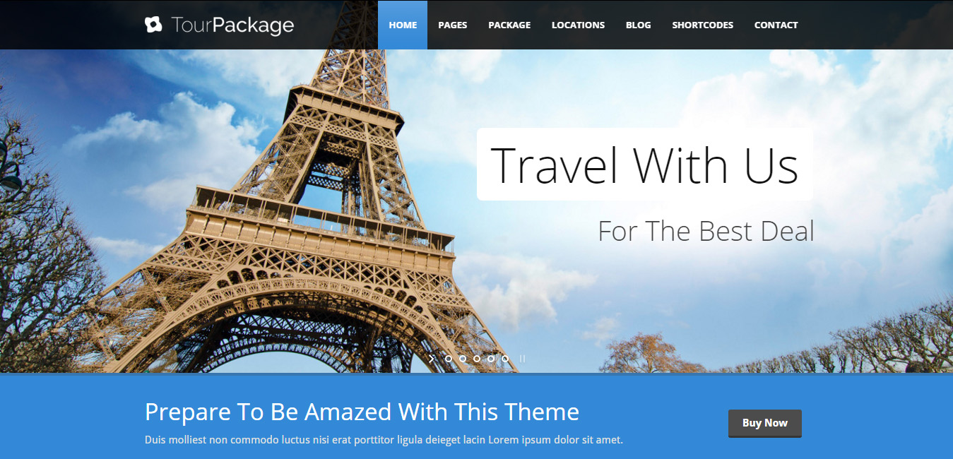 Tour Package - Family WordPress Themes