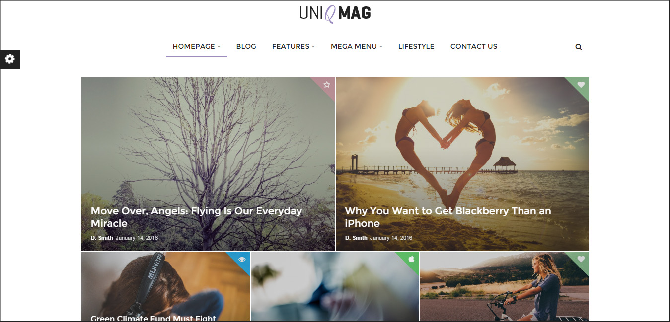 UniqMag - Ease of Publishing News WordPress Theme