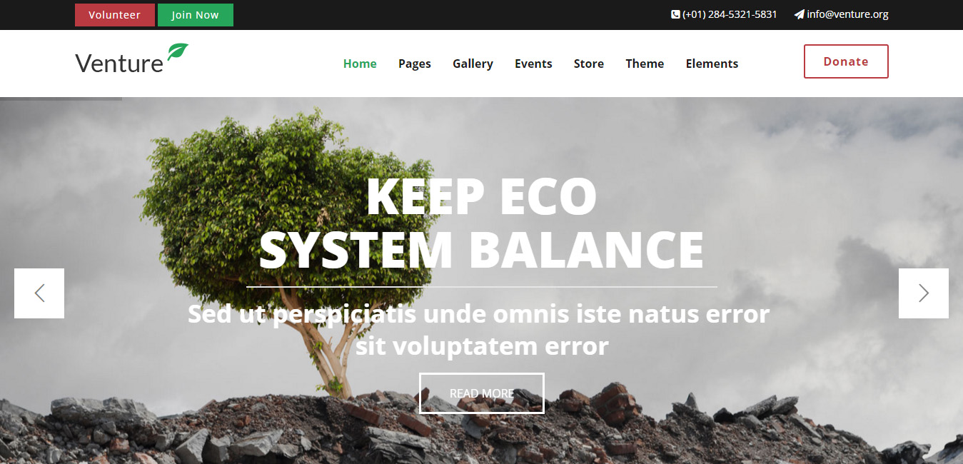 Venture - Modern Environmental Theme