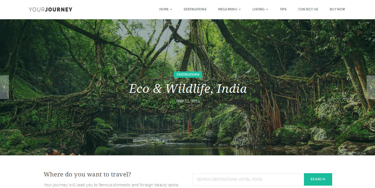 Your Journey - Tourism WordPress Themes
