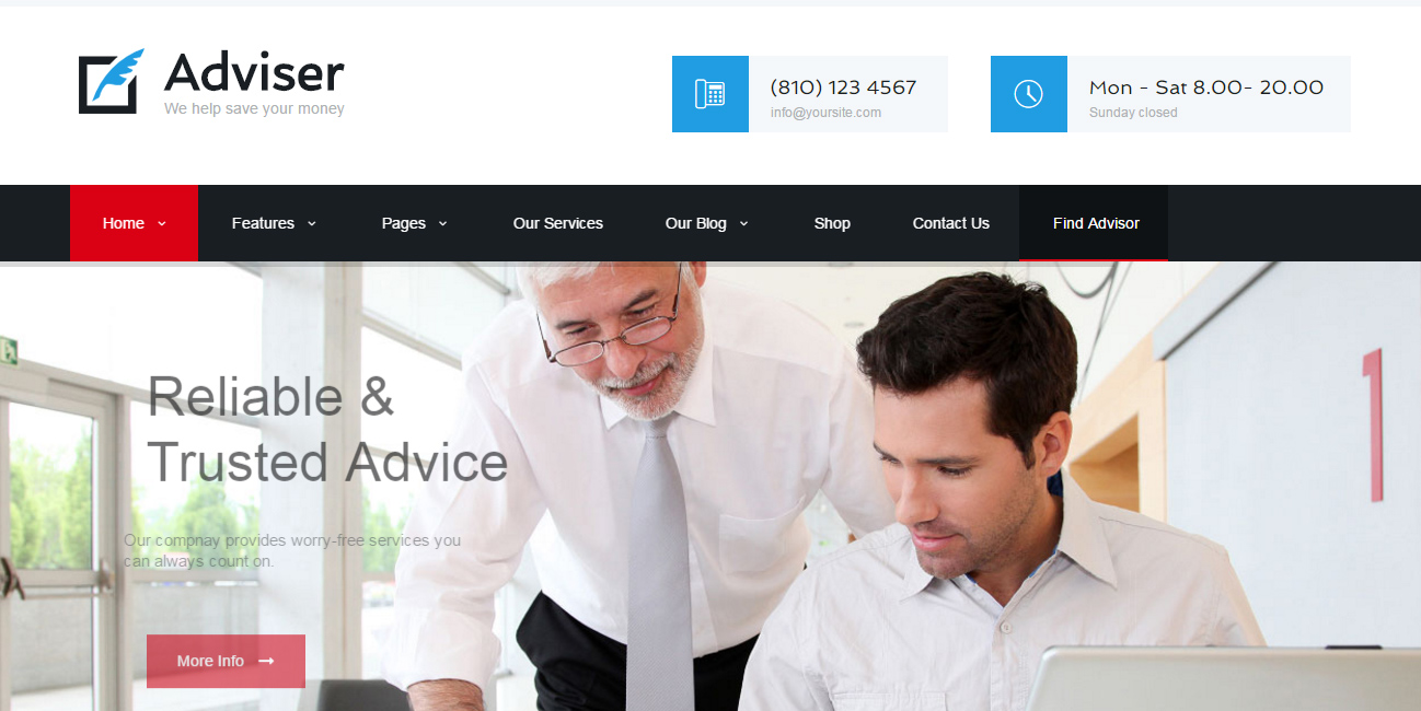 Adviser - Accountant WordPress Themes