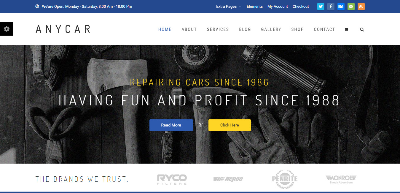 AnyCar - inventory WordPress themes