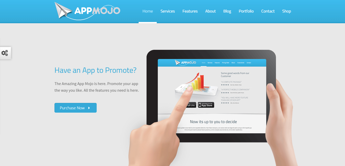 App Mojo - Responsive Single Page Promotion Theme