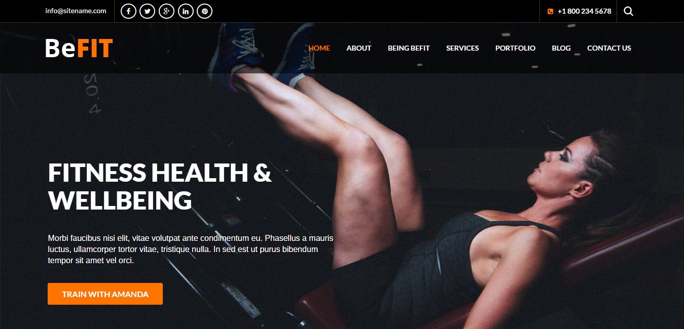 Top 6 Free Fitness WordPress Themes - DesignOrbital
