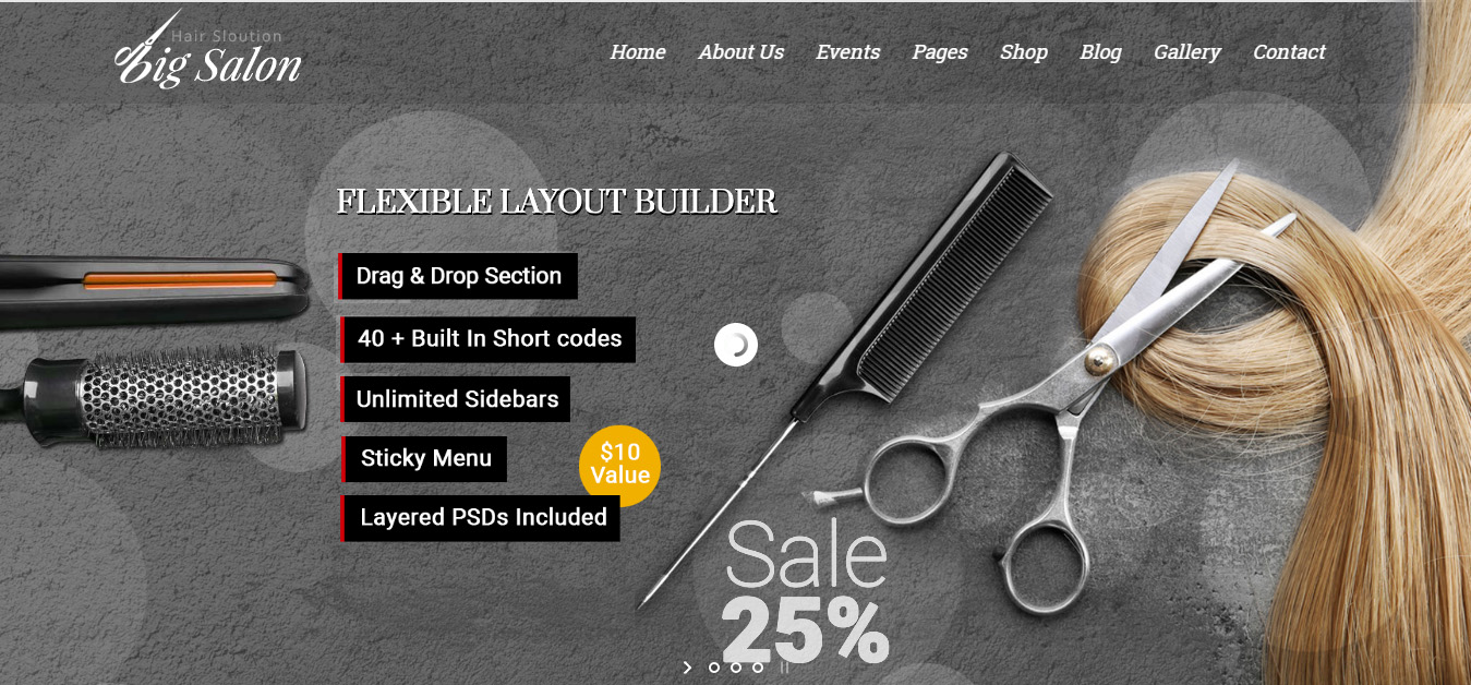 Big Salon - WordPress Hair Salon, Beauty & Spa Theme