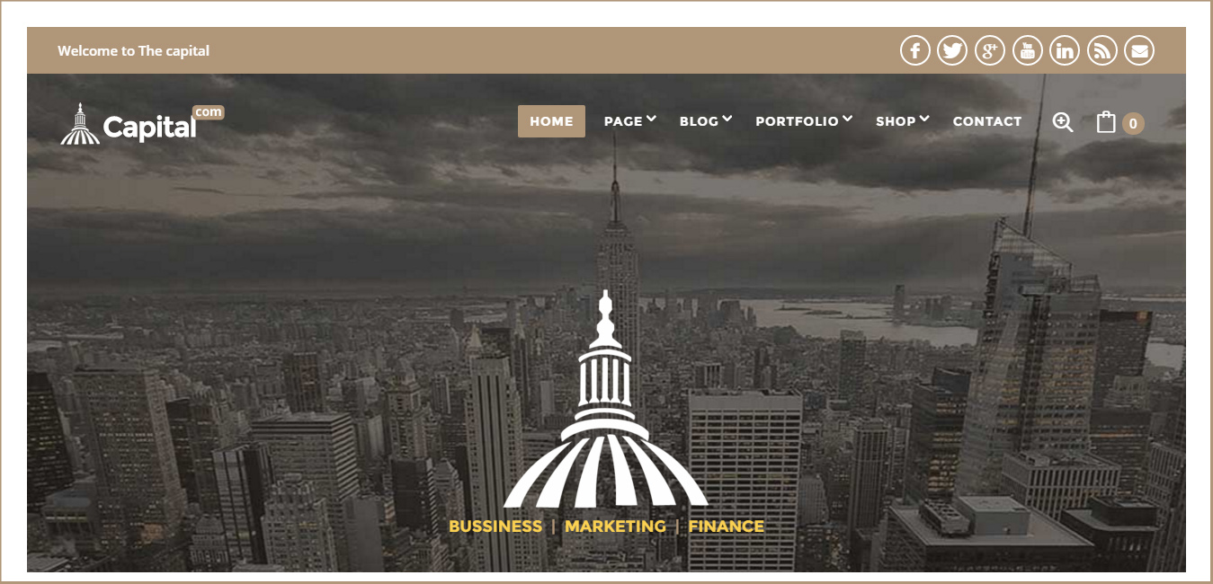 CAPITAL - Business And Corporate WordPress Theme