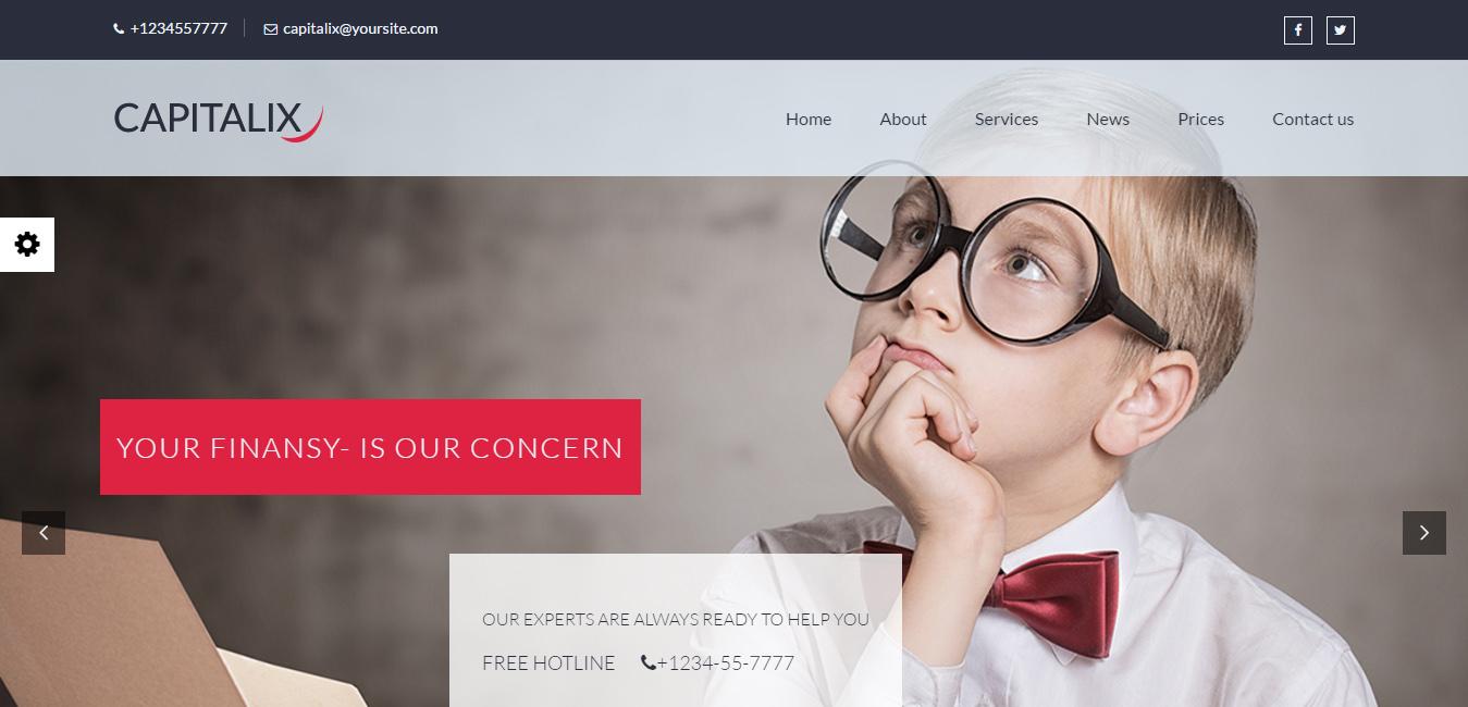 Capitalix - Business, Finance WordPress Theme