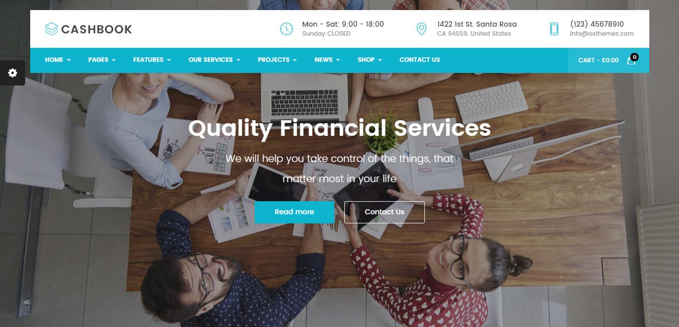 Cashbook - insurance WordPress themes
