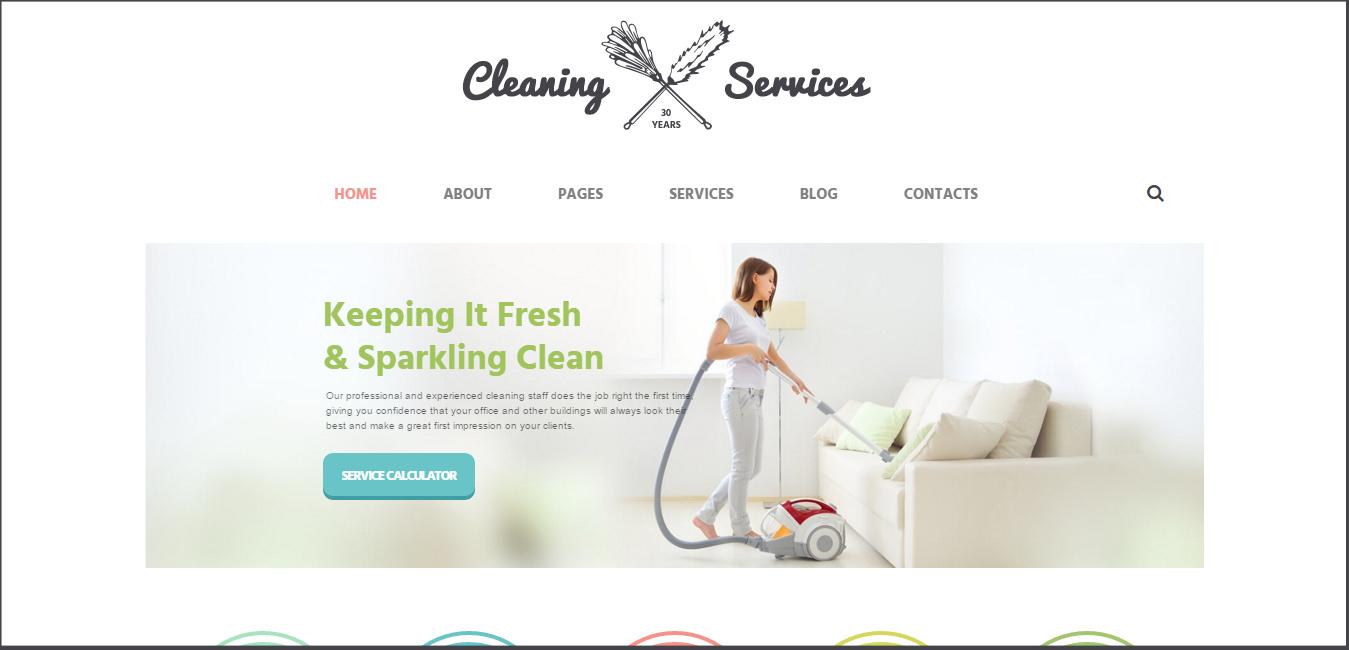 Cleaning Company - handyman WordPress themes
