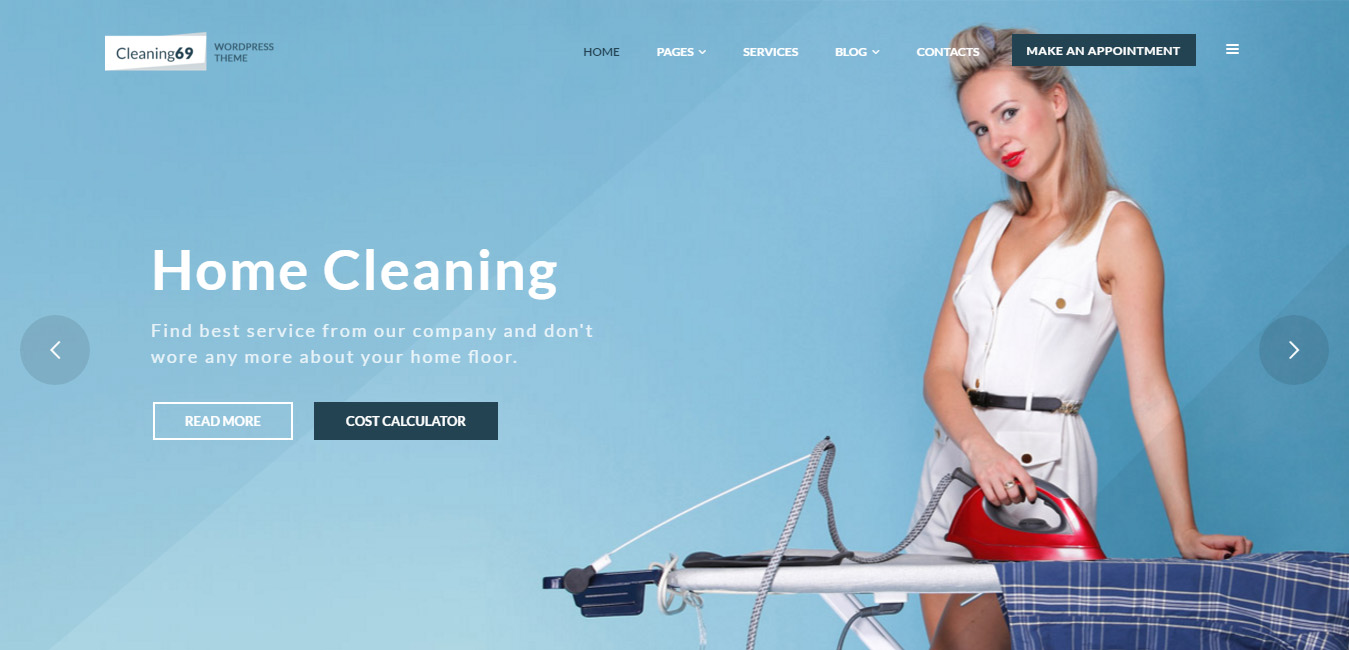 Cleaning69 - House Cleaning Company WordPress Theme