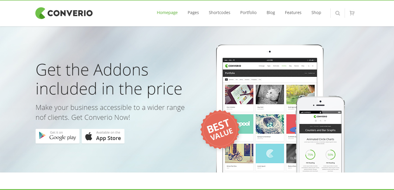 Converio - Multi-Purpose WordPress Theme