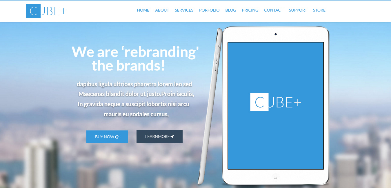 Cube+ - blue WordPress themes