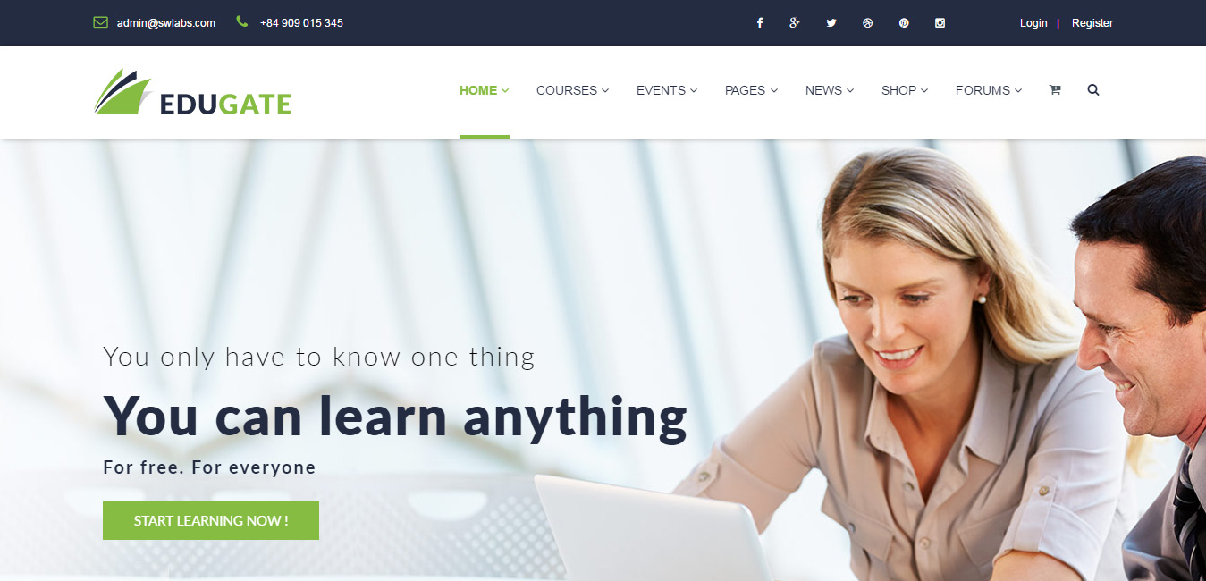 EduGate - Multiconcept Education WordPress Theme