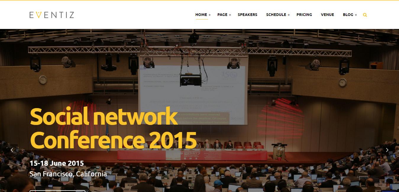 Eventiz - Conference Event Responsive WordPress Theme