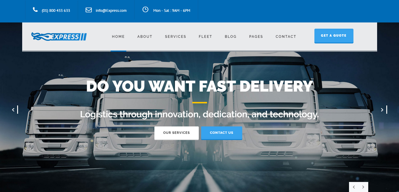 Express - Transports WordPress Theme