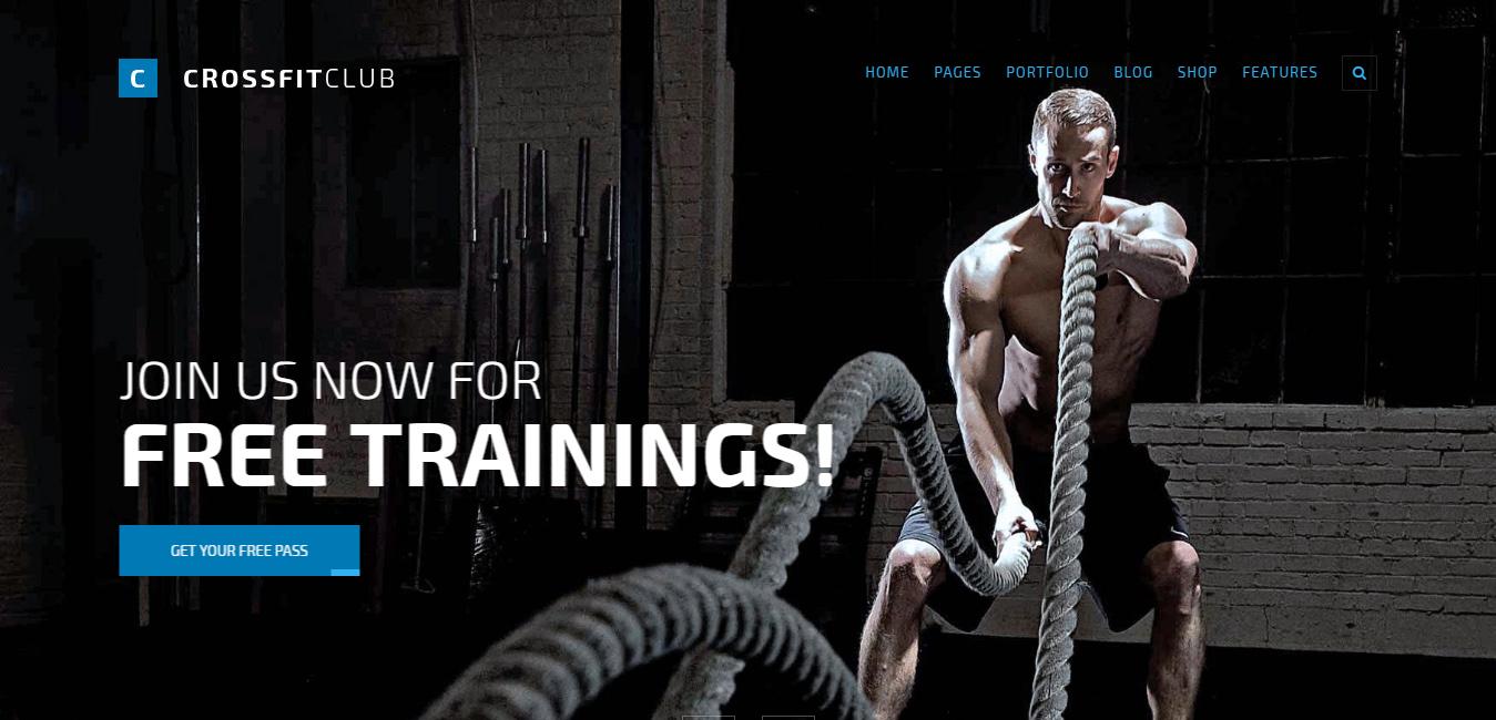 FightClub - Premium Bodybuilding WordPress Themes