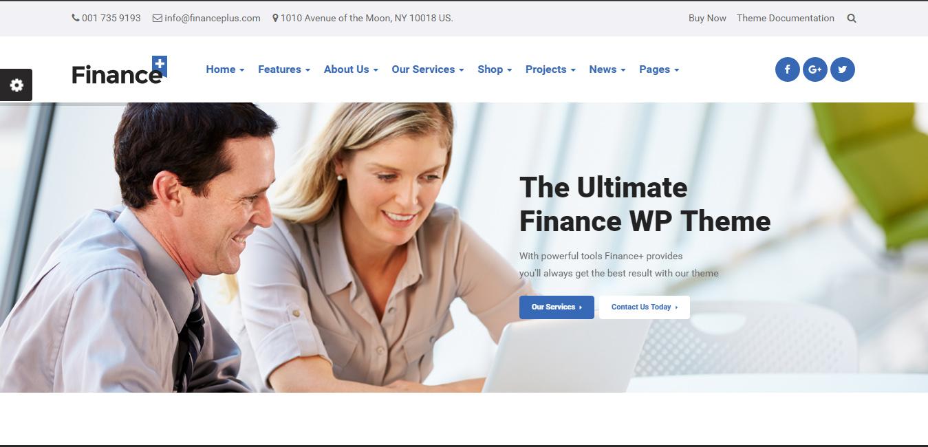 FinancePlus - Business WordPress Theme