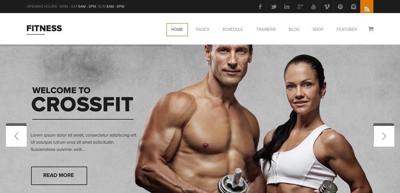 Fitness - Gym WordPress Theme