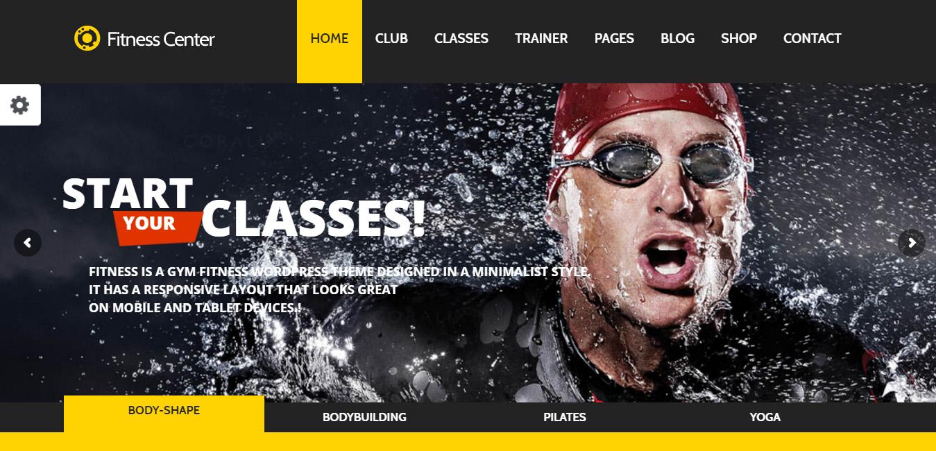 Fitness WordPress eCommerce Theme