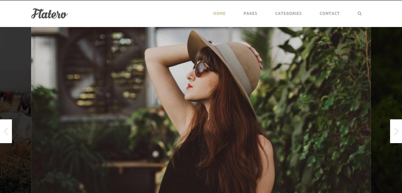 Flatero - Responsive WordPress Blog Theme