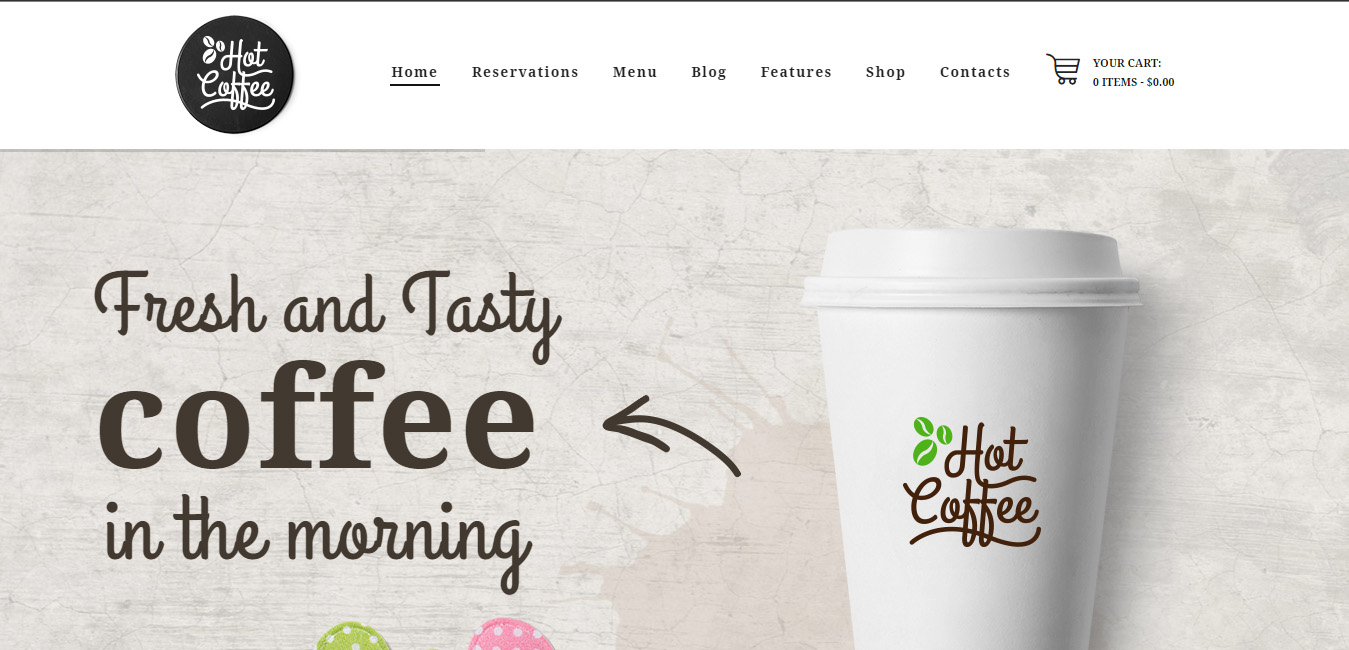 HotCoffee - Cafe, Restaurant and Bar WordPress Theme