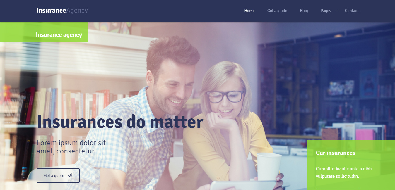 Insurance - WordPress Insurance Agency Theme