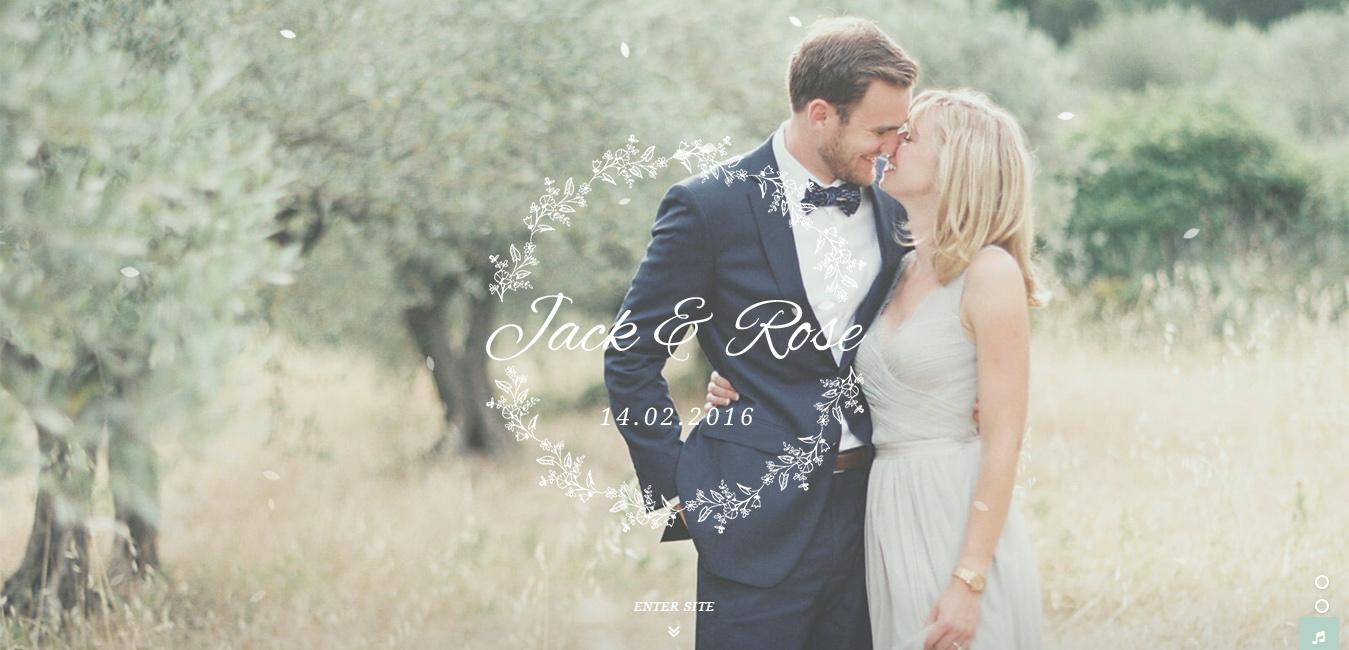 Jack & Rose - WordPress Wedding Theme