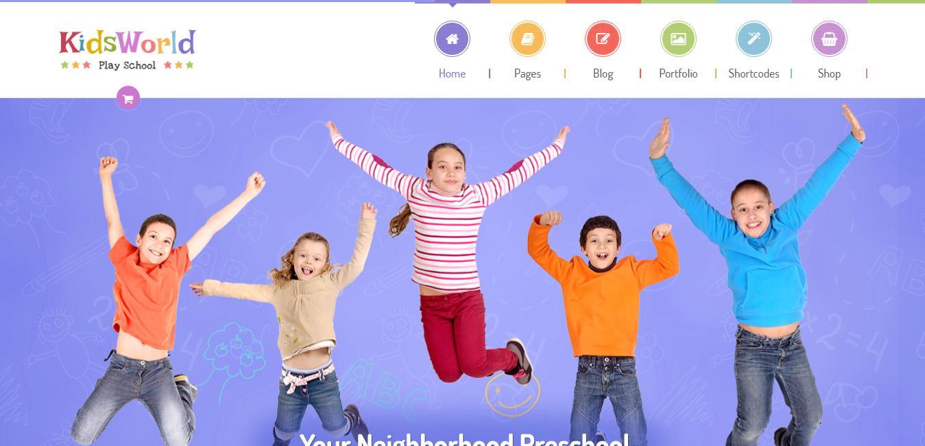 KidsWorld - Children Kindergarten WordPress Theme