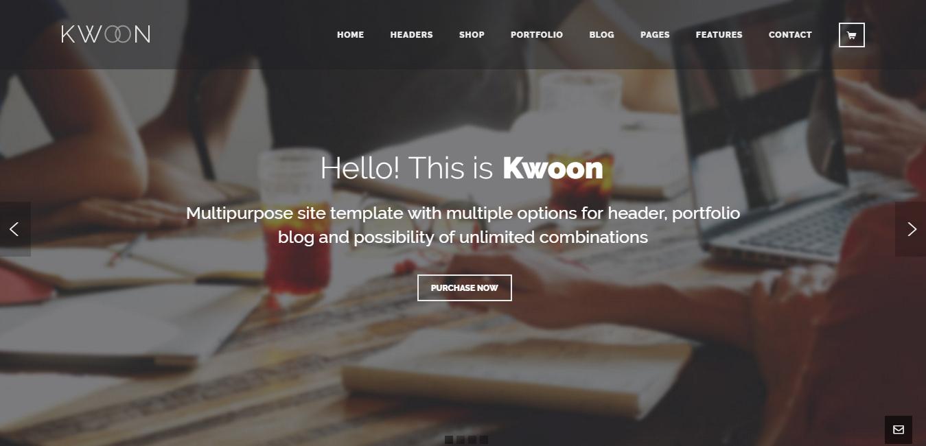Kwoon - flat design WordPress themes