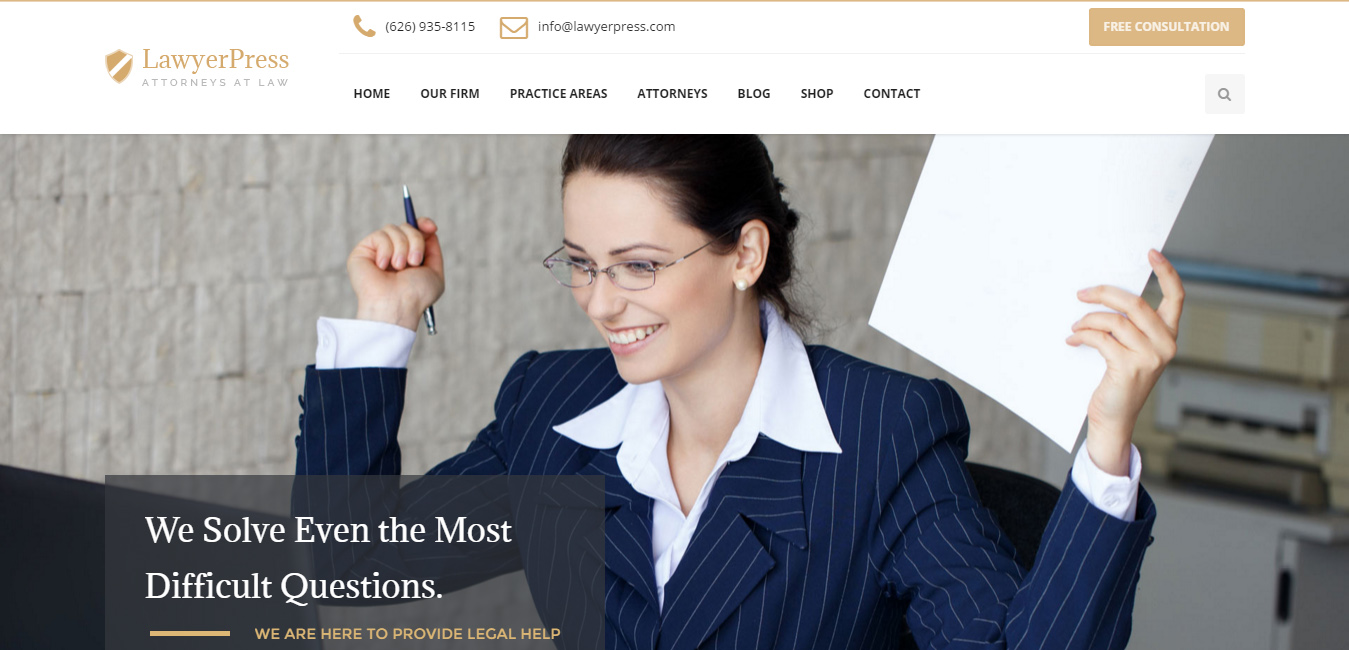 LawyerPress - Lawyers & Attorneys WordPress Theme