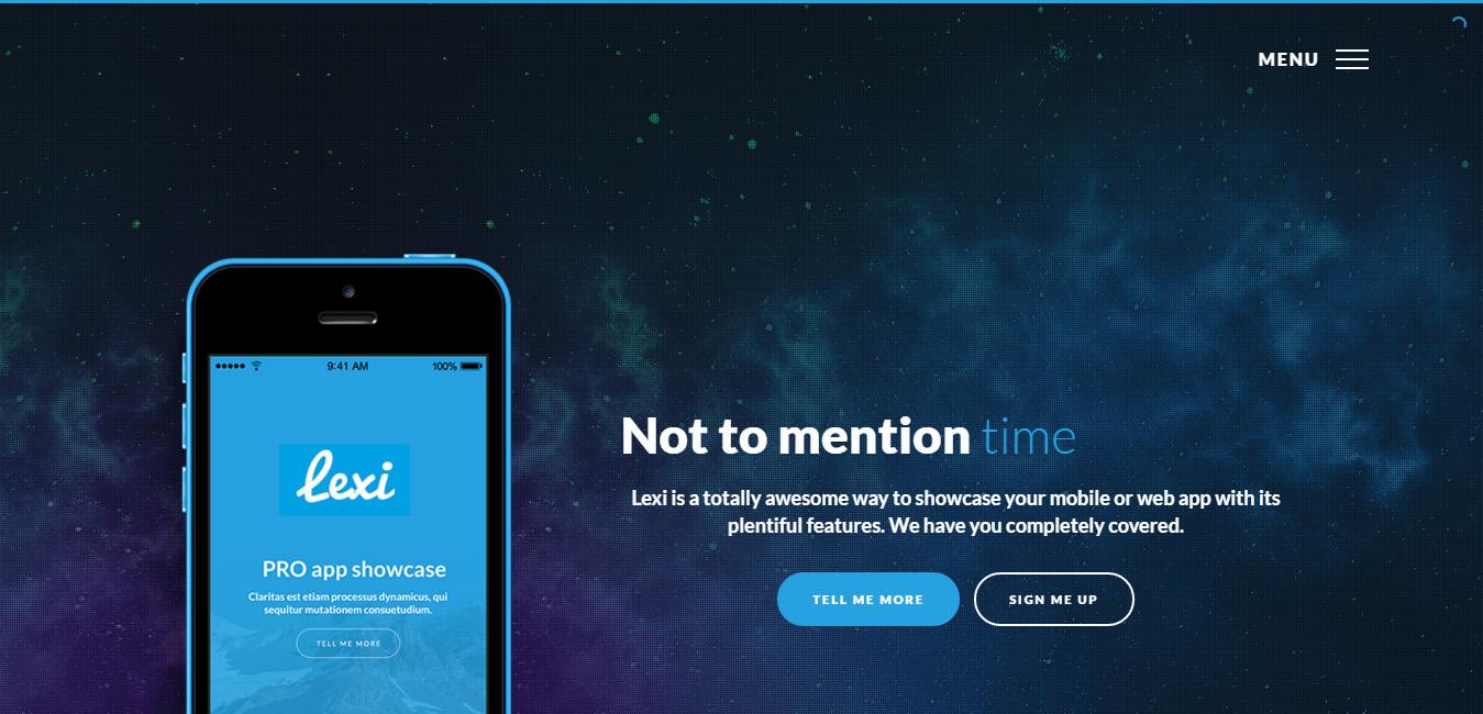 Lexi - Mobile App WordPress Theme